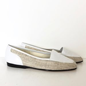 Enzo Angiolini Leather Fabric  Slip On Flats